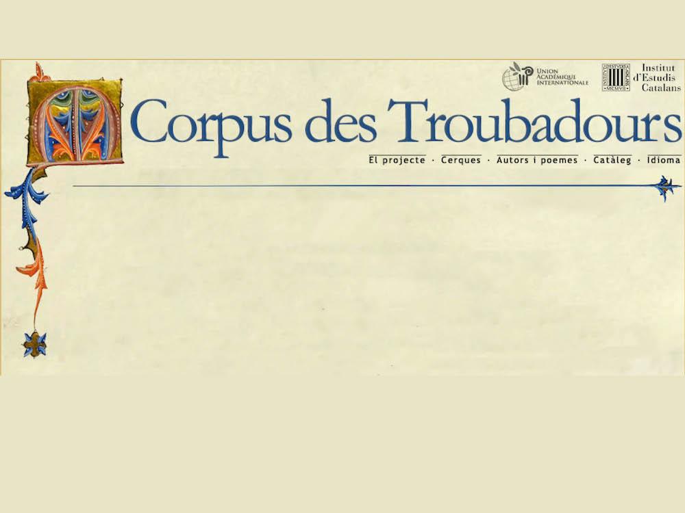 Corpus des Troubadours