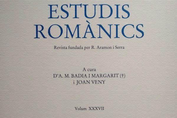 Estudis Romànics